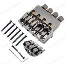 Black Roller saddle 4 String Bass Guitar Bridge for Headless Bass Guitar T4