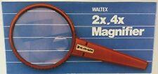 Waltex, Rond Vergrootglas Dubbele Focus, vergroting van 2x en 4x (VG04)