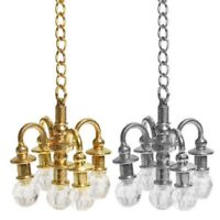 CO_ Dollhouse Miniature Furniture 1:12 Doll House Accessories Lamp Chandelier In