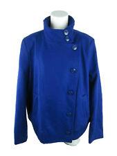 Attention NEW Plus Women's sz 2X Wool Blend Long Sleeve Solid Blue Peacoat