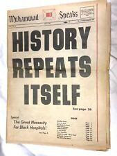 "May 1969 Newspaper. Muhammad Speaks. ""History Repeats Itself"" Julian Bond, More"