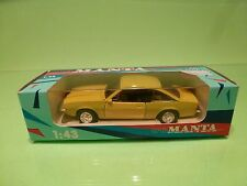 PRALINE METAL - OPEL MANTA B - YELLOW 1:43 - GOOD CONDITION IN BOX