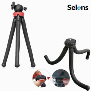 Portable Flexible Tripod Octopus Stand Gorilla Pod For Gopro Camera DV Black/Red