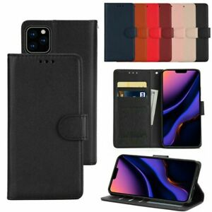 Real Genuine Leather Flip Wallet Case for iPhone 6 7 8 5S PLUS XR 11 12 Cover