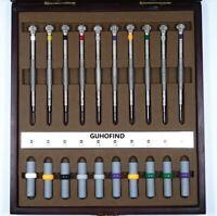 Set of 10pcs Professional Tool Steel Screwdrivers 0.6mm-2.0mm for Watch Repair