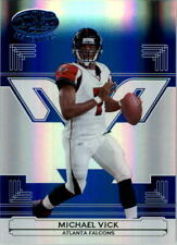 2006 Leaf Certified Materials Mirror Blue Falcons Card #8 Michael Vick /50