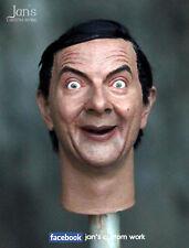 1/6 CUSTOM REPAINT REHAIR Mr.Bean figure head sculpt enterbay hot toys DX