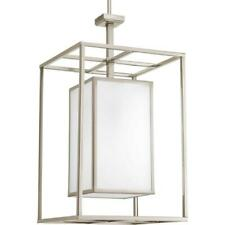 Progress Lighting Haven Collection 1-Light Brushed Nickel Foyer Pendant