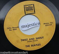 THE BEATLES TWIST AND SHOUT 7-INCH VINYL 45 TOLLIE 9001 MONARCH 633194