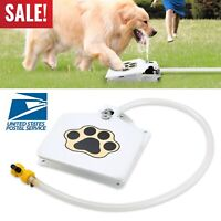 Outdoor Trouble-Free Dog Cat Pet Water Drinking Fountain Bowl With Hose Splitter