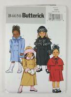 Butterick Girls Sizes 2 3 4 5 Coat Hat Pattern 4650 Winter Long Short UNCUT
