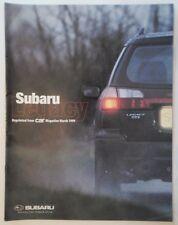 SUBARU LEGACY GX ESTATE orig 1999 UK Mkt Road Test Comparison Brochure  VW Volvo