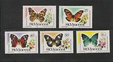 St. Vincent #523-527 VF MNH - 1978 Butterflies - Overprinted Specimen Set