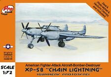 "1/72  XP-58 Lockheed ""Chain lightning"" Gunnery Olimp - Pro Resin R72018"