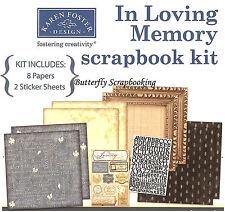 In Loving Memory 12X12 Scrapbooking Kit Always in my Heart Karen Foster NEW