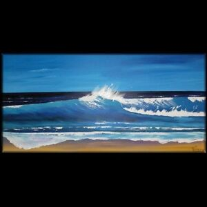 MASSIVE WALL ART ORIGINAL SURF BEACH SEASCAPE ABSTRACT  311028 Lynne Pickering