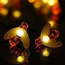 Nuevo BONITO MIEL ABEJA Energía Solar LED luz de hadas Cuerdas decoración de jardín V1C3