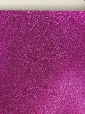 Fuscia Pink Superfine Glitter CardStock (A4) TOP Quality Smooth No Loose Glitter