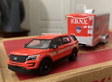 2016 Ford Explorer POLICE INTERCEPTOR FDNY, & Special Operations Command Trailer