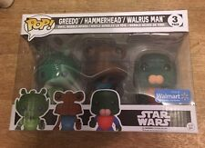Funko Pop Star Wars Walmart Exclusive 3 Pack Greedo, Hammerhead, Walrus Man