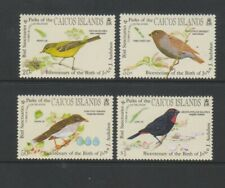 Caicos Islands - 1985, J Audubon Birds set - MNH - SG 68/71
