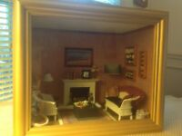 miniature dollhouse room box cottage by the sea
