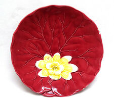 Zell Germany Majolica Pottery Lily Pad & Water Lily Plate