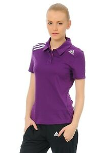 Adidas Ladies Polo Shirt Tennis Fitness Polo Purple F82164 New XS S L