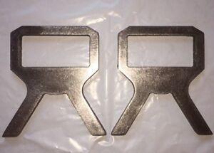 "2 X 4 Target Stand Brackets Set Of (2) 3/8"" Steel"