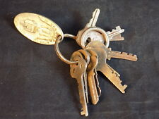 Set of 12 rare vintage KEYS on Postage Guaranteed Key Ring YALE YALE JUNIOR etc