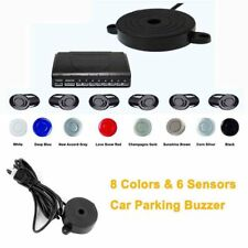 Car Parking Sensor 6 Sensors Radar Detector System Kit 8 Colors Reverse DC12V