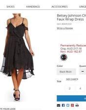 BETSEY JOHNSON US DESIGNER PRETTY WRAP POLKDA DOT DRESS SIZE  8 US/ 12 AU