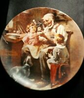 KNOWLES NORMAN ROCKWELL FIRST LIMITED EDITION OF THE TOY MAKER PLATE!   DD275UCX