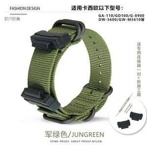 Sports Nylon Strap for G-SHOCK GA GD G GW DW GLS 5600 Wristwatch Band with Tool