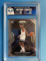 Anthony Edwards RC Rookie Card 2020-21 Panini Prizm Basketball NBA HGA 9 9.5