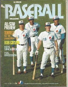 1974 Montreal Expos baseball magazine Willie Davis, Tim Foli, Ron Hunt FAIR