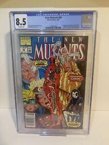 new mutants 98 newsstand cgc 8.5