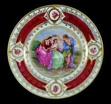VTG/ ANTIQUE PROV SAXE E.S. GERMANY PLATE CLASSICAL MYTHICAL SCENE EXCELLENT