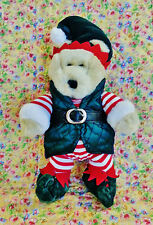 STARBUCKS BEARISTA BEAR 2001 COLLECTOR ELF BEAR CHRISTMAS HOLIDAYS PLUSH TUSH