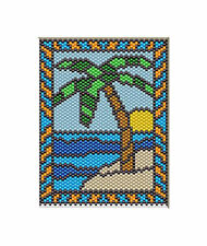Peaceful Paradise Beaded Banner Pdf Pattern Only