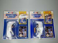 2x Fred McGriff Toronto Blue Jays 1990 MLB Baseball Starting Lineup Figure SLU