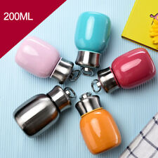 MINI CUTE STAINLESS STEEL WATER BOTTLE VACUUM INSULATED SPORTS GYM METAL FLASK