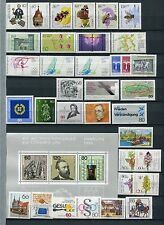 Allemagne 1984 neuf sans charnière complète année timbres + feuille 36 objets