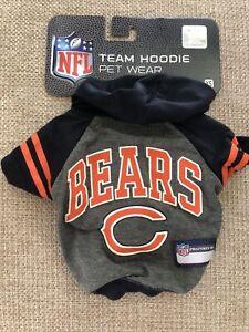 Chicago Bears XS T-Shirt Pet Hoodie Dog NFL Football Fan Licensed Team