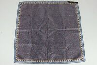 Vintage Ashear Italy Made All Silk Blue Multicolor Paisley Print Pocket Square