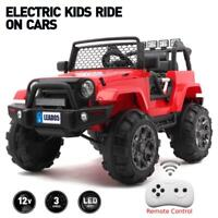 12V Electric Kids Ride on Car Toys Truck LED Music w/ Remote Control RED