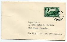 Montserrat 1940 cover from Salem to Roadtown, British Virgin Islands