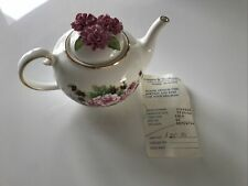 More details for the country cottage teapot royale stratford old-fashioned pinks