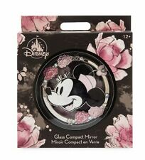 Disney Store Positively Minnie Compact Mirror Floral design with diamantes- BNWT