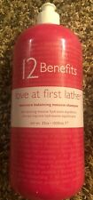 12 Benefits Love At First Lather Moisture Balancing Mousse Shampoo 32 oz. Bottle
